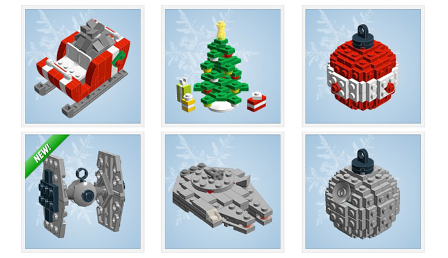 Lego Christmas ornaments designed by Chris McVeigh
