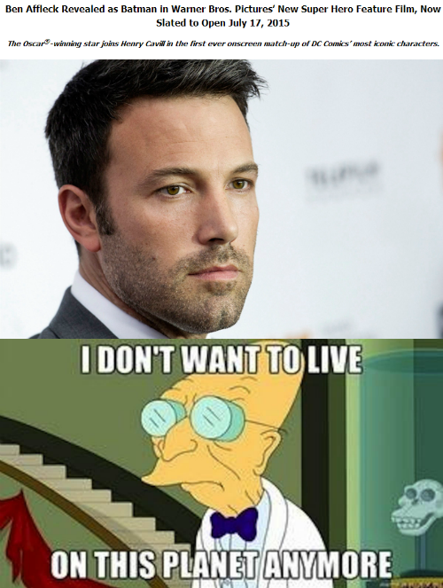 Ben Affleck as Batman meme