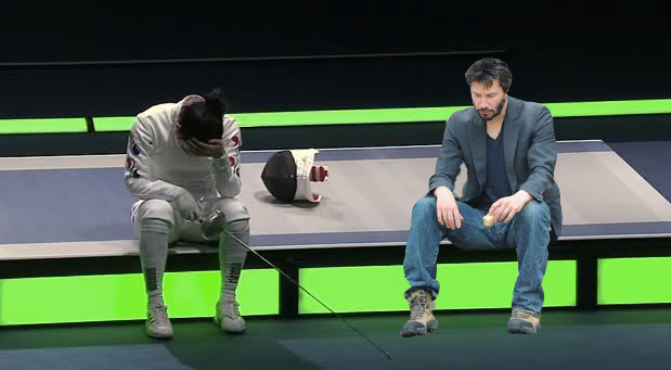 Sad Keanu at the Olympics