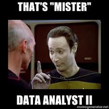 Data analyst meme