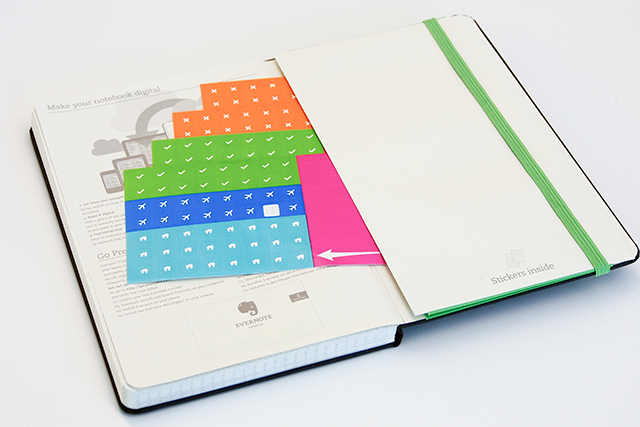 Evernote Smart Notebook by Moleskine with Smart Stickers