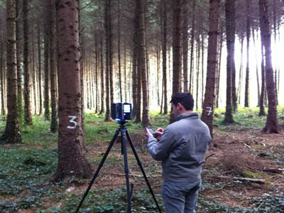 TreeMetrics 3D photo scanner - it helps foresters determine width, height, volume of trees, as well as wood quality