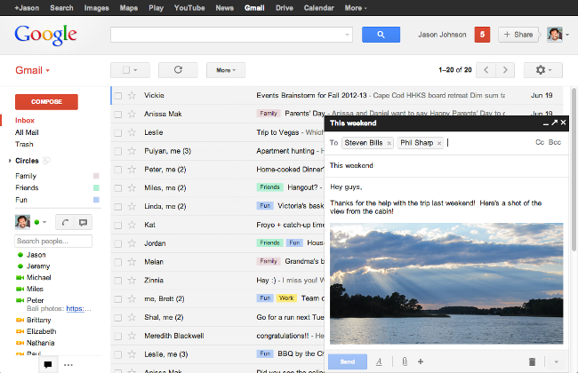 Gmail pop-up composer