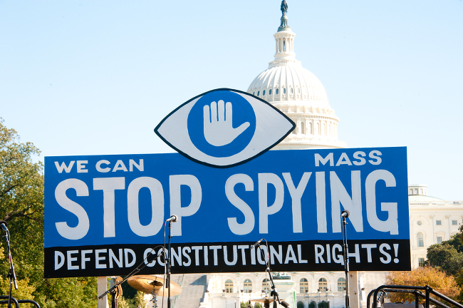 Government surveillance protest