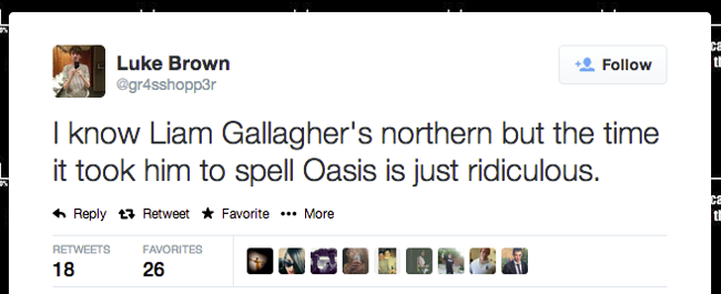 Liam Gallagher Oasis tweets