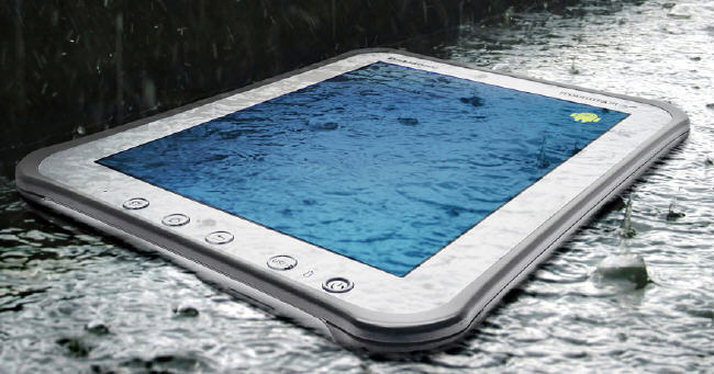 Panasonic Toughpad A1 in the rain