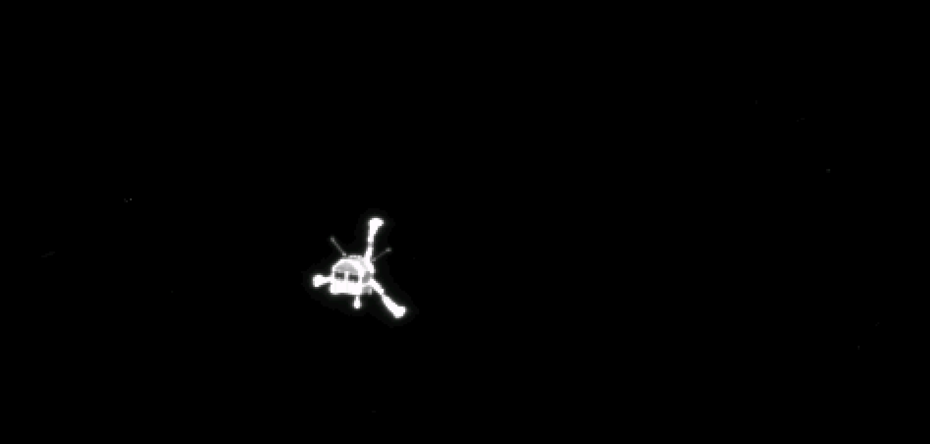 Philae lander after separation