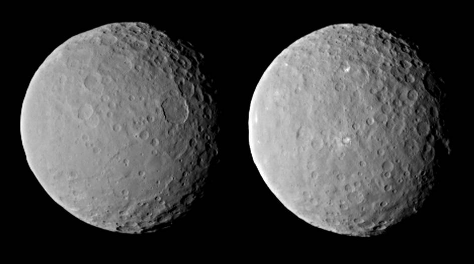 Two images of Ceres