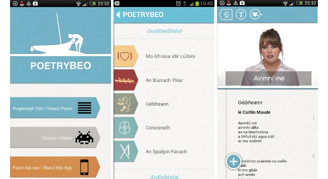 PoetryBeo Irish Leaving Certificate poetry app