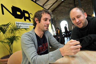 John Ryan and Tim Walsh, pictured at the NDRC, where they developed their first venture, Point The Way, during the inaugural Launchpad