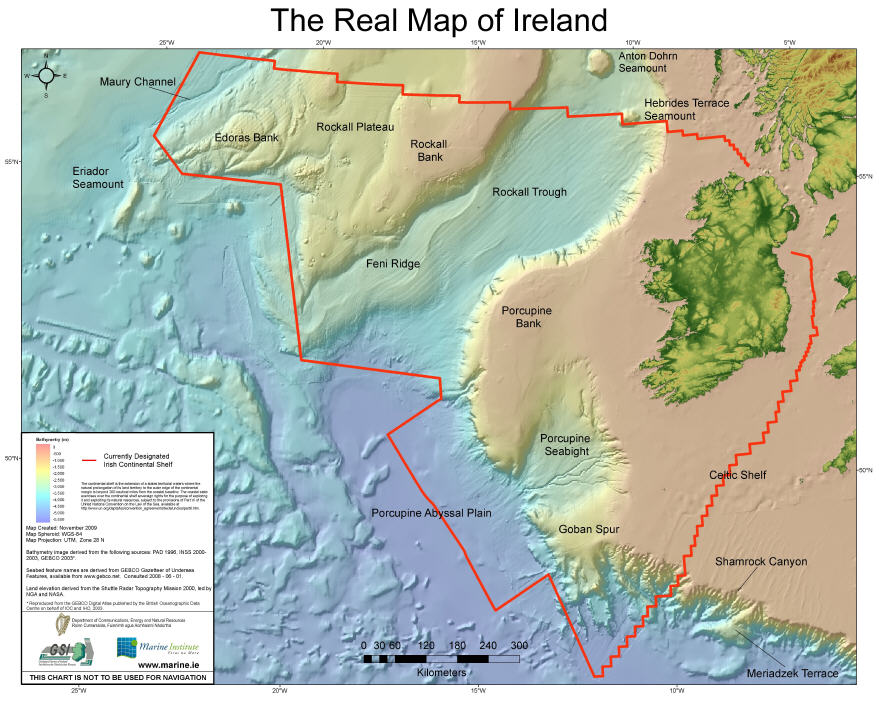 Real map of Ireland