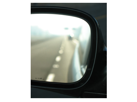 road in mirror