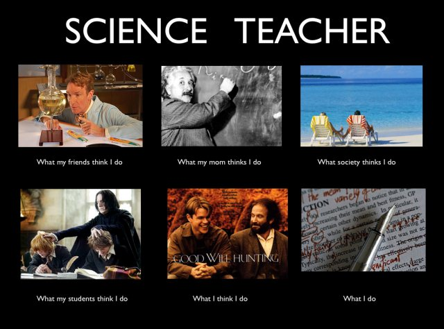 Science teacher meme