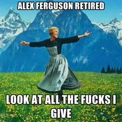 Sir Alex Ferguson retires meme