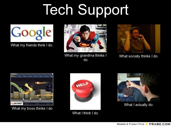 Tech support meme