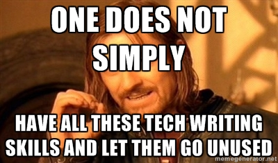 technical writer meme
