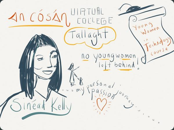 Sinead Kelly, Young Women into Technology co-ordinator, An Cosan. Illustration by Eimear McNally/Think Visual