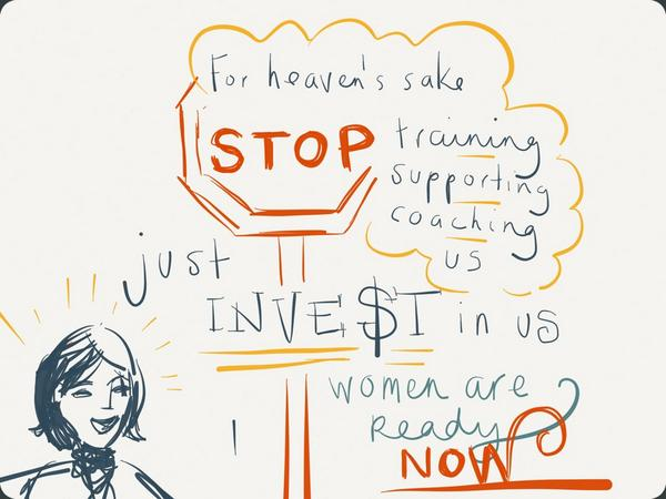 Sharon Vosmek, CEO, Astia. Illustration by Eimear McNally/Think Visual