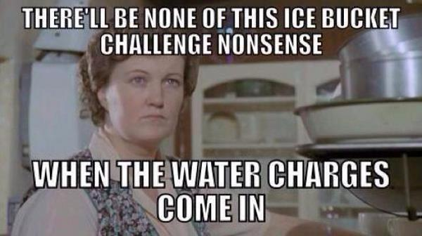 Water charges meme