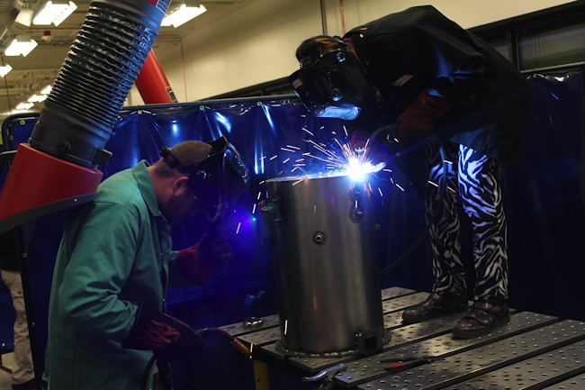 Welding at TechShop