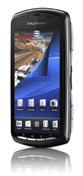 Xperia Play upright