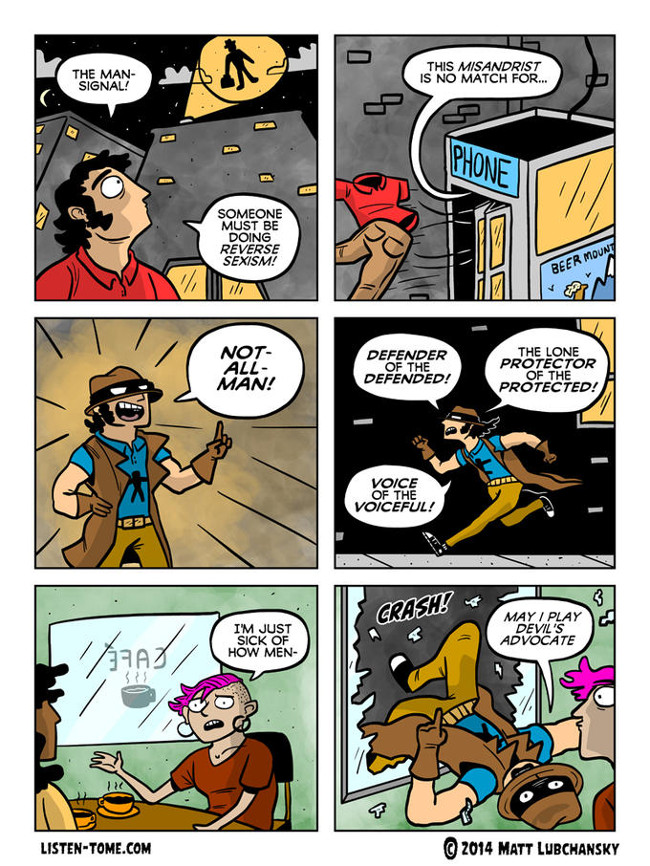 Not All Men comic by Matt Lubchansky