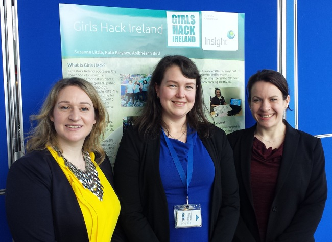 Aoibhéann Bird, Suzanne Little and Ruth Kenealy from Girls Hack Ireland
