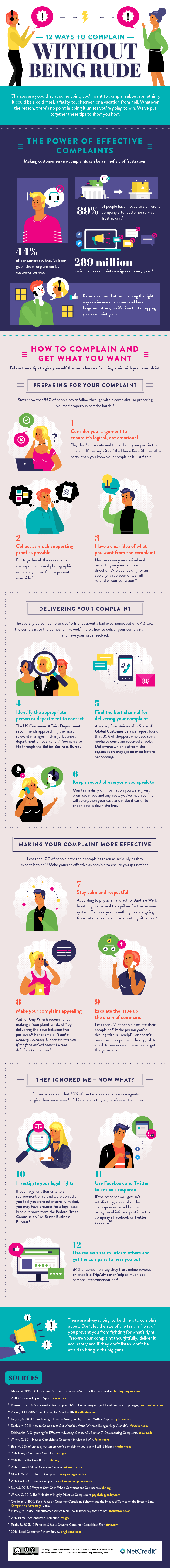 Complain without being rude infographic