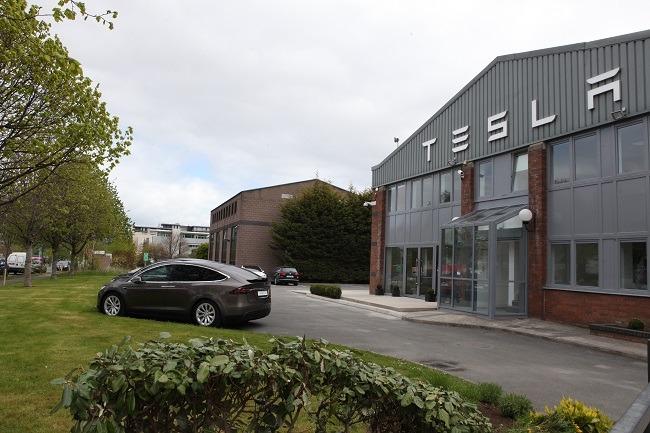 Outside of Tesla store 2