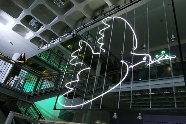 artwork of neon dove