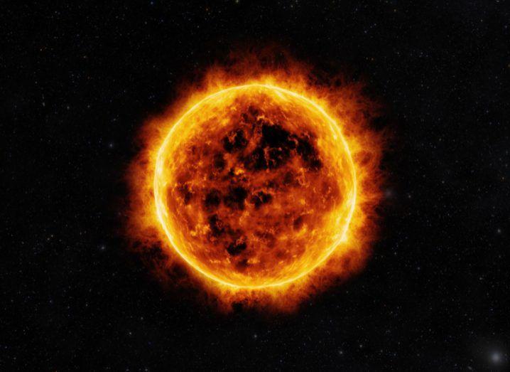 solar flares around the sun