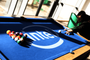 Intel snooker table