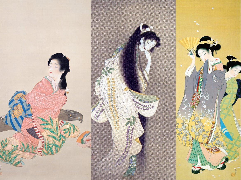 Uemura Shoen Daughter Miyuki, Flame, and Cherry Blossom