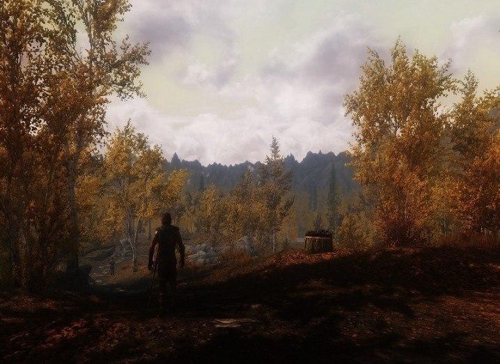 A scene from Skyrim mod