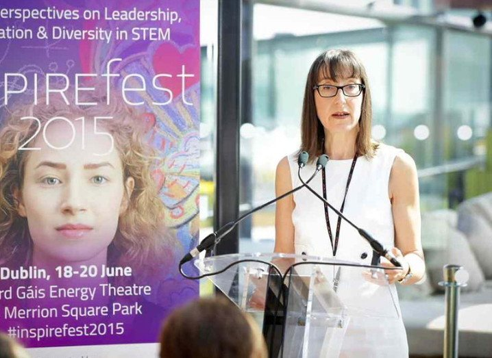 Siliconrepublic.com's editor-at-large Ann O'Dea speaks at the Inspirefest launch