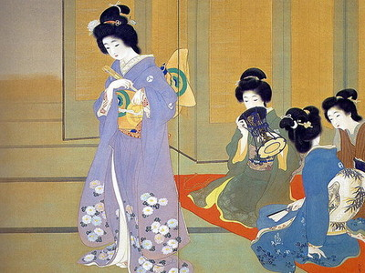 Uemura Shoen's 1914 painting called 'Dancing', via Wikimedia Commons