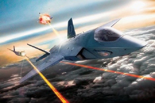 Illustration of lasers used by fighter jets. Image via US Air Force