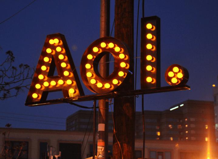 AOL. sign