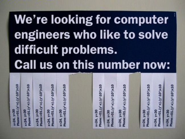 Engineers who like to solve difficult problems