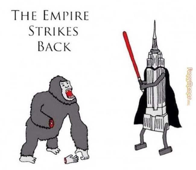 Empire State Building Strikes Back against King Kong