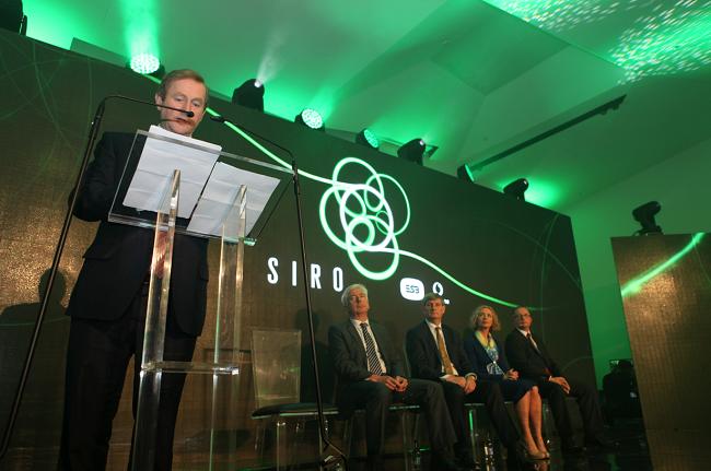 An Taoiseach Enda Kenny at SIRO launch. Image via Luke Maxwell