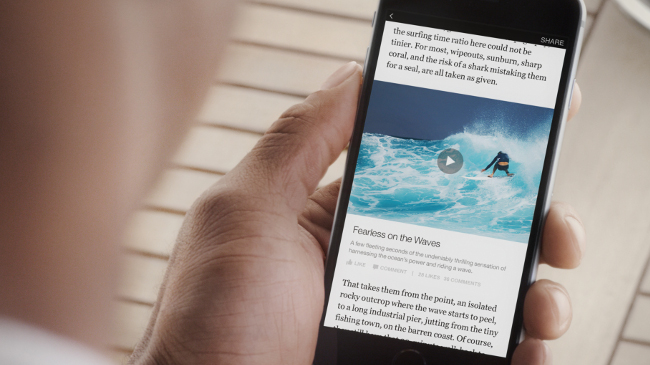 Facebook Instant Articles preview