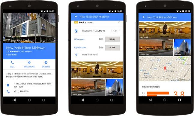 Mobile advertising, hotels, Google