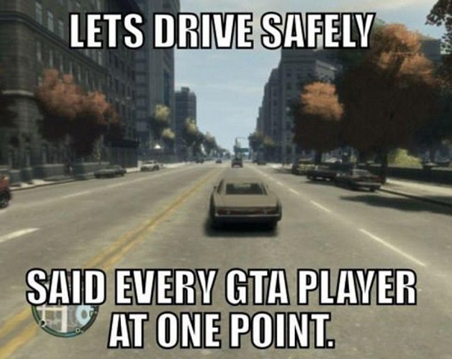 Safe driving GTA