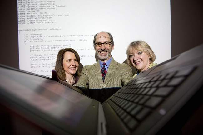 From left at VENTURE launch: Dr Helen Kelly-Holmes, Dr John Noll and Dr Sarah Beecham. Image via Sean Curtain Photo