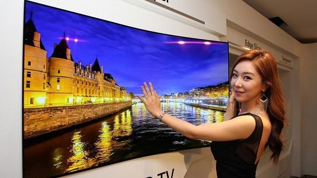 LG wallpaper TV on display