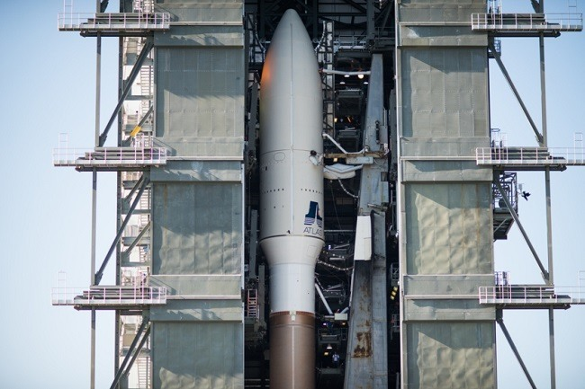 LigthSail payload on Atlas V rocket, ready for launch.