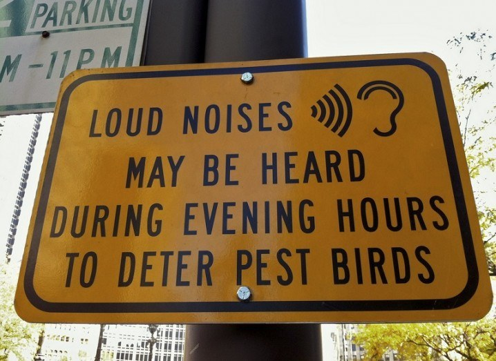 Loud noise sign
