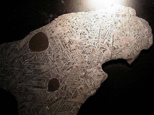 Interior of a meteorite