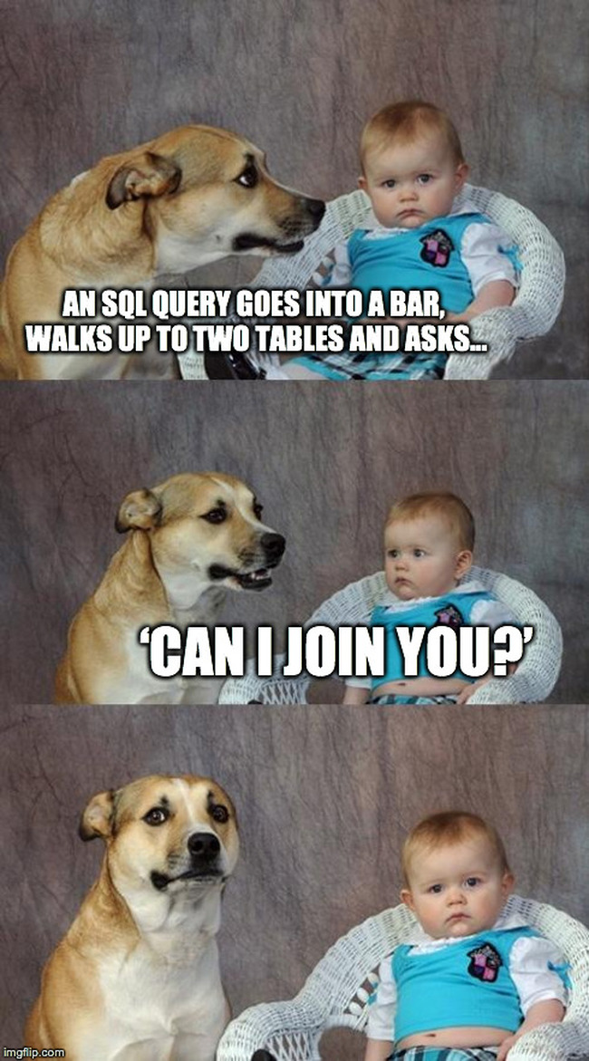 SQL query - can I join you?